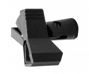 Butterfly-style quick release microphone clip